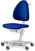 Кресло для школьника Moll Maximo 15 Royal Blue Pure на сером основании