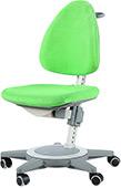 Кресло для школьника Moll Maximo 15 Grass Green на сером основании (бархат)