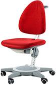 Кресло для школьника Moll Maximo 15 Cherry Red Pure на сером основании