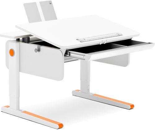 Компактная парта с выдвижным ящиком Moll Champion Compact White with drawer