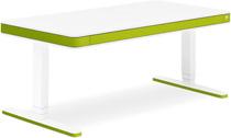Стол для работы стоя и сидя Moll Unique T7 XL May Green с кабель-менеджментом