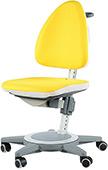 Детский стул Moll Maximo Sun yellow на сером основании