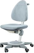 Детский растущий стул Moll Maximo 15 Light grey на сером основании (бархат)