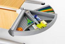 Откидное отделение для мелочей к столу Moll Sprinter Moll Orga Tool left