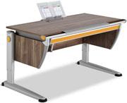 Стол для школьника темного цвета Moll Runner Comfort Walnut