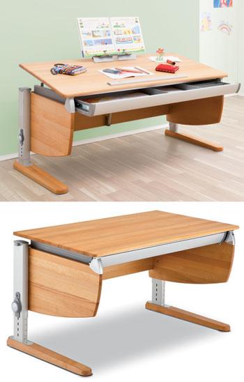 Детский письменный стол из массива бука Moll Intero Classic beech