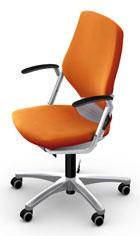 Регулируемый стул для подростка Moll Argon orange/shiny silver (с подлокотниками)