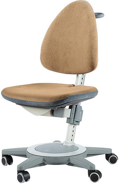 Коричневый стул для школьника Moll Maximo 15 Brown на сером основании