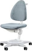Детский регулируемый стул Moll Maximo Light grey на белом основании (бархат)