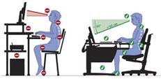 Как правильно сидеть за компьютером ребенку.
