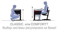Система Comfort и Classic у детских письменных столов